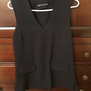 Zara Black Long top